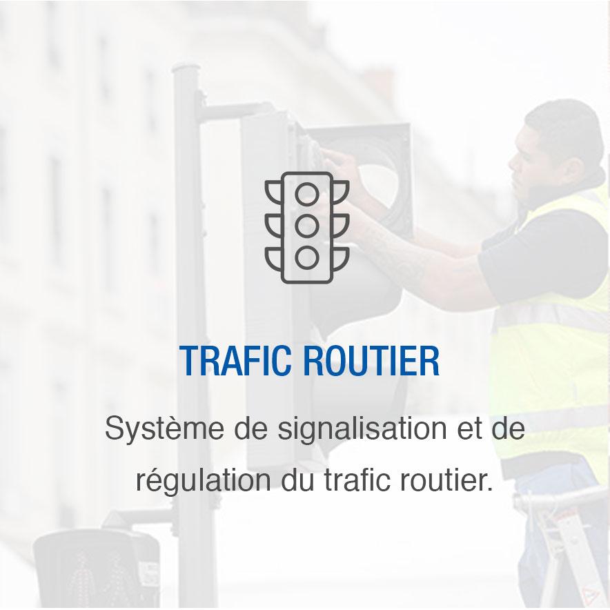 Trafic routier : système de signalisation et de régulation du trafic routier