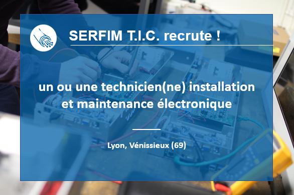 Recrutement Technicien(ne) installation et maintenance électronique
