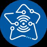 Picto Territoires connectés SERFIM TIC Bleu